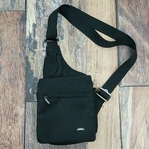 "Travelon 8"" x 9"" Black Nylon Travel Bag With Strap"